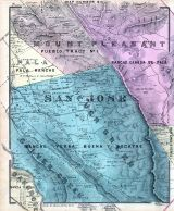 Map 006, San Jose, Evergreen, Silver Creek, Mount Pleasant, Pala, Oakgrove, Santa Clara County 1876